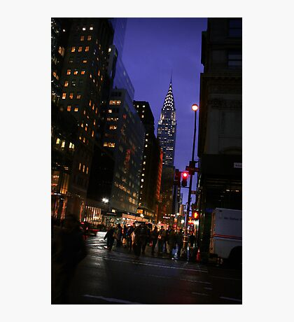 New York - Chrysler Building View Photographic Print