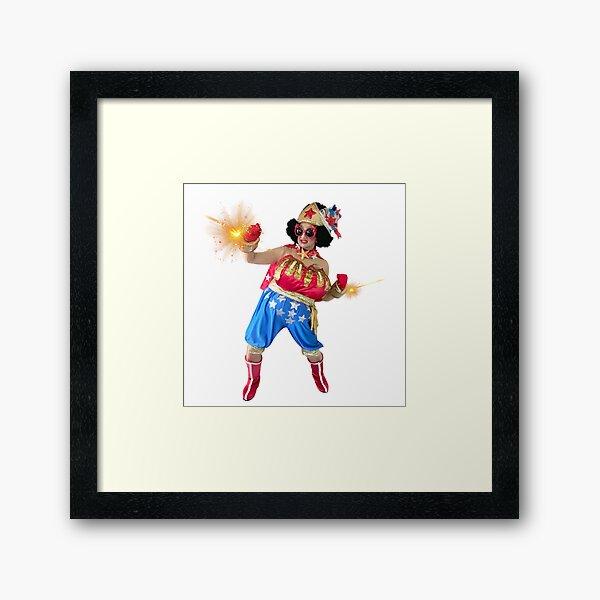 The Fabulous Wonder Mama deflecting SHADE at every angle! Framed Art Print