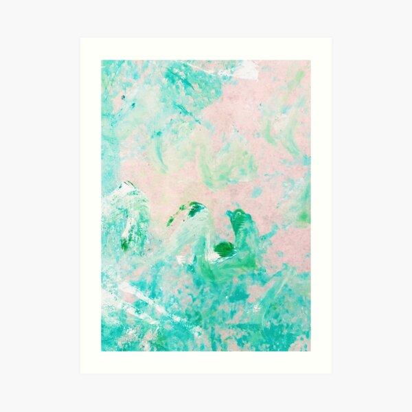 Jade Crystal Acrylic & Ink Art Print