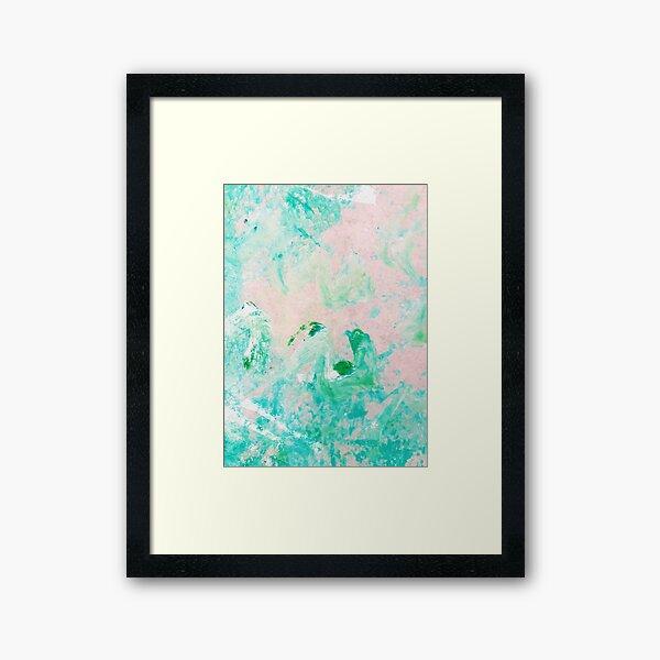 Jade Crystal Acrylic & Ink Framed Art Print