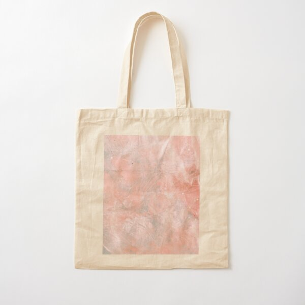 Rose Quartz Crystal Acrylic & Ink Cotton Tote Bag