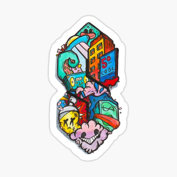 Super Doodle Sticker