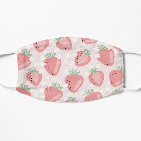 Strawberry Flower Pattern Flat Mask