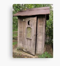 Old Antique Country Outhouse Bathroom  Canvas Print