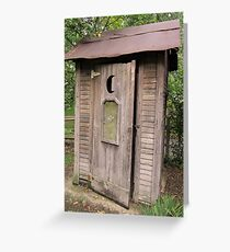 Old Antique Country Outhouse Bathroom  Greeting Card