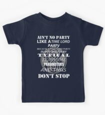 Time Lord Party Kids Tee