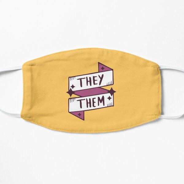 They / Them (Non-binary) in Orange Flat Mask
