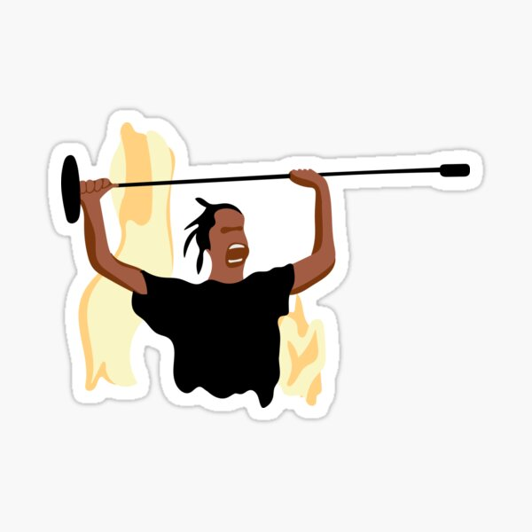 travis scott rage meme Sticker