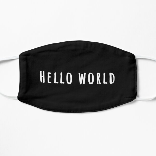 Hello World Funny Programming Quote Mask