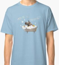 Splish Splash, Rhino Taking a Bath! Classic T-Shirt