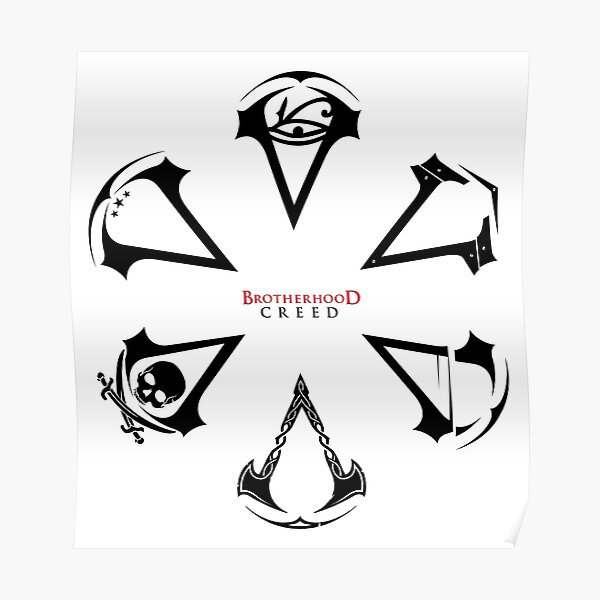 Creed Assassins Logo Posters Redbubble