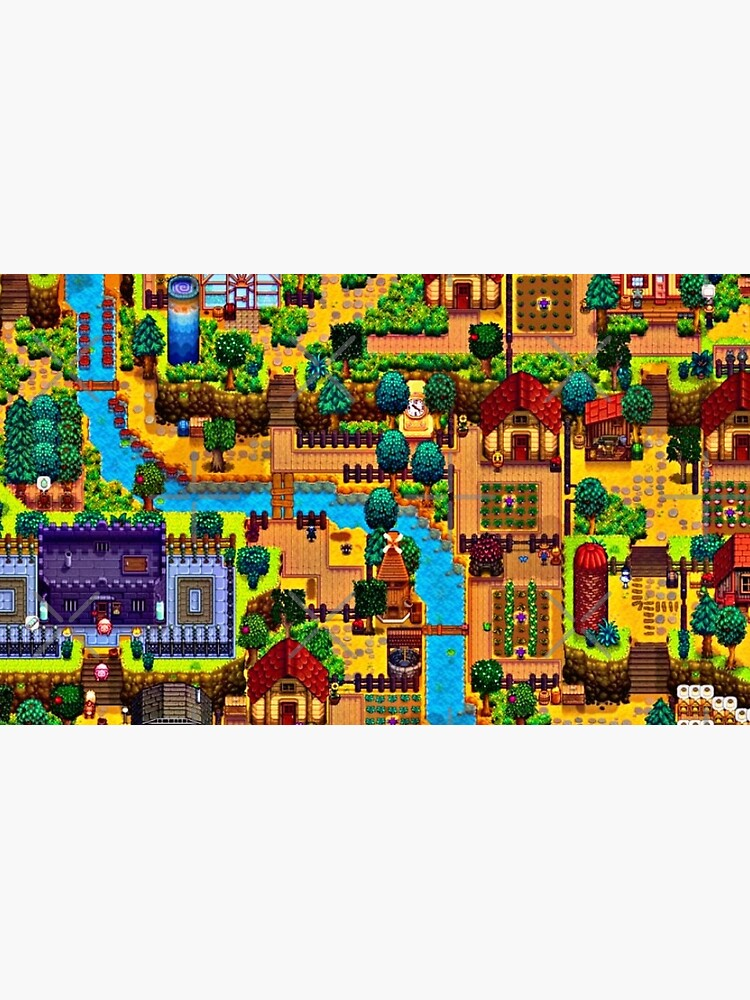 Stardew valley map  by jellyrelish