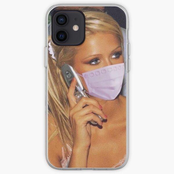 paris hilton in a mask iPhone Soft Case