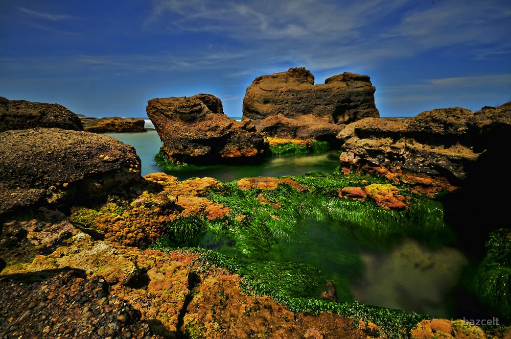 Caves Beach Green by bazcelt