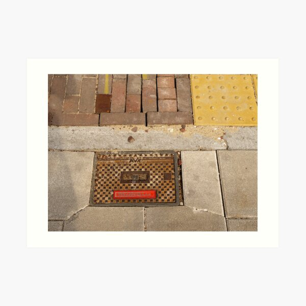 Covered - Fire hydrant in the sun Art Print