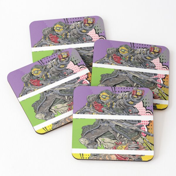 FL4K The Beastmaster with Guard Skag Borderlands 3 Rakk Attack! Pop Up Art Coasters (Set of 4)