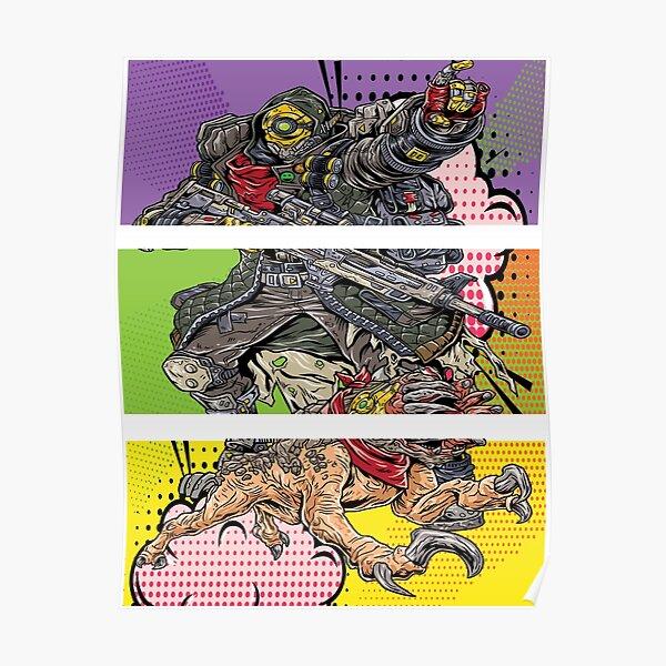 FL4K The Beastmaster with Guard Skag Borderlands 3 Rakk Attack! Pop Up Art Poster