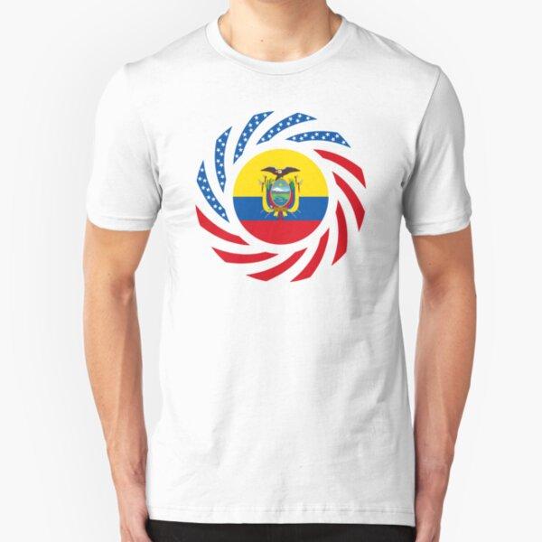 Ecuadorian American Multinational Patriot Flag Series Slim Fit T-Shirt