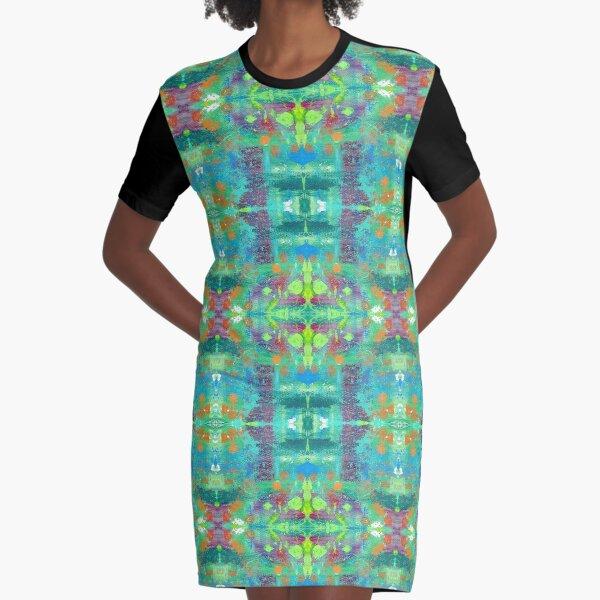 Trippy Drippy Graphic T-Shirt Dress