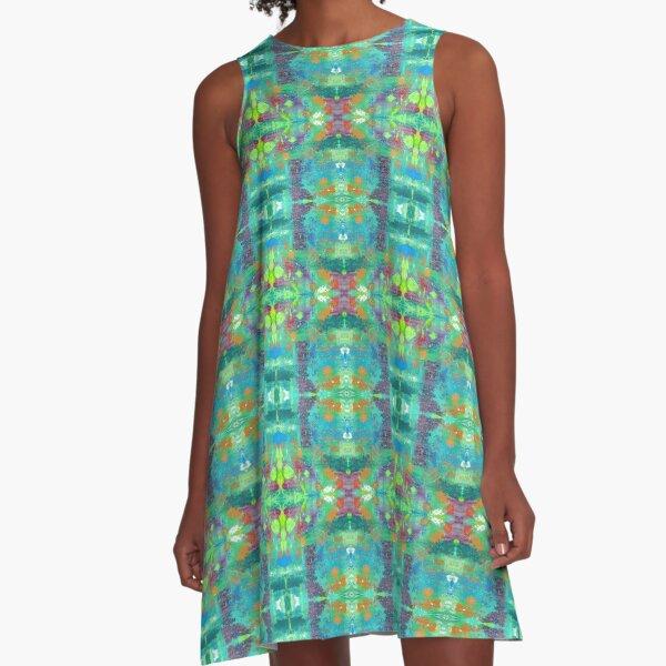 Trippy Drippy A-Line Dress