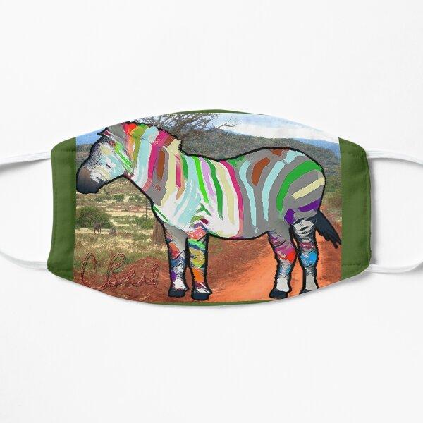 Colored Striped Zebra Mask
