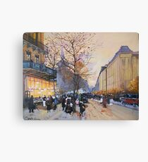 Place de la République, Paris from Eugene Galien LaLoue 1900 Canvas Print