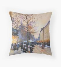 Place de la République, Paris from Eugene Galien LaLoue 1900 Throw Pillow