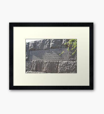FDR - No country, however rich... Framed Print