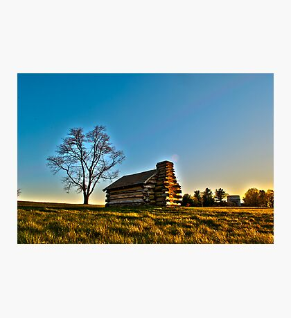 Cabin at Valley Forge Photographic Print