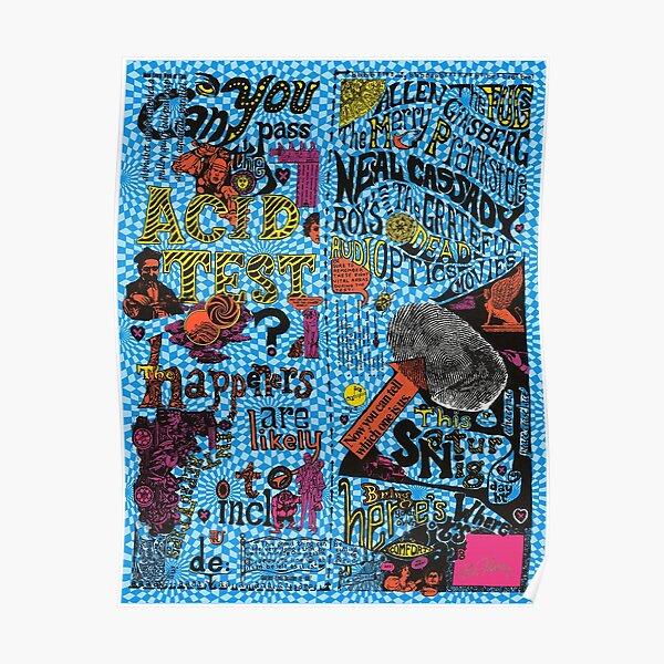 Ken Kesey Acid Test Handbill Poster