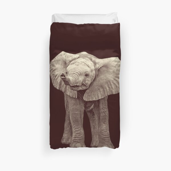 Adorable Baby Elephant  Duvet Cover