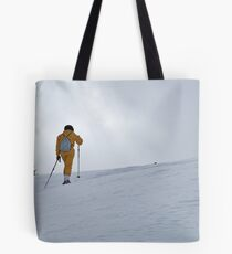 Woman snowshoeing, French Alps, France Tote Bag
