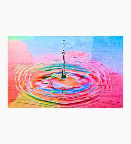 Colorful waterdrop Photographic Print