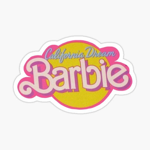 Vintage Barbie Logo Sticker