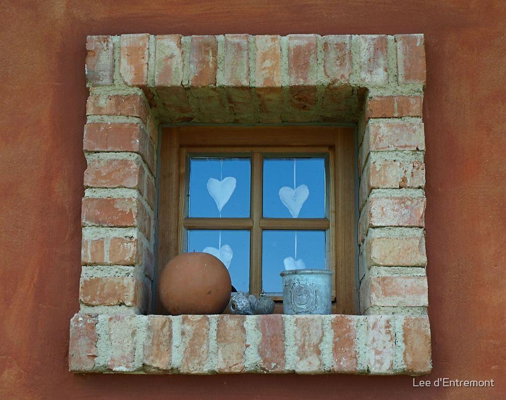 Unique Brick Window. by Lee d'Entremont