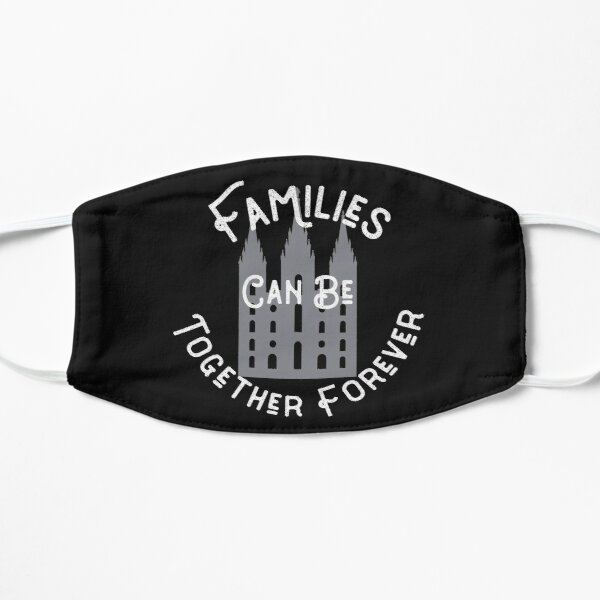 Families Can be Together Forever Mormon Temple Design Mask