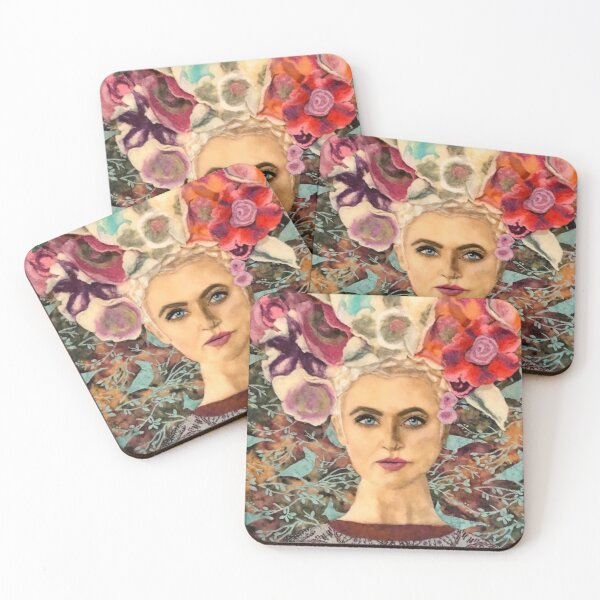 Olga Was Never a Wallflower Coasters (Set of 4)