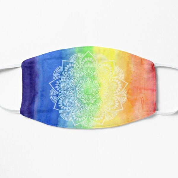 Watercolor Rainbow Mehndi Motif Flat Mask