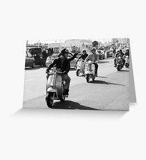 Mod drive by in Brighton. Greeting Card