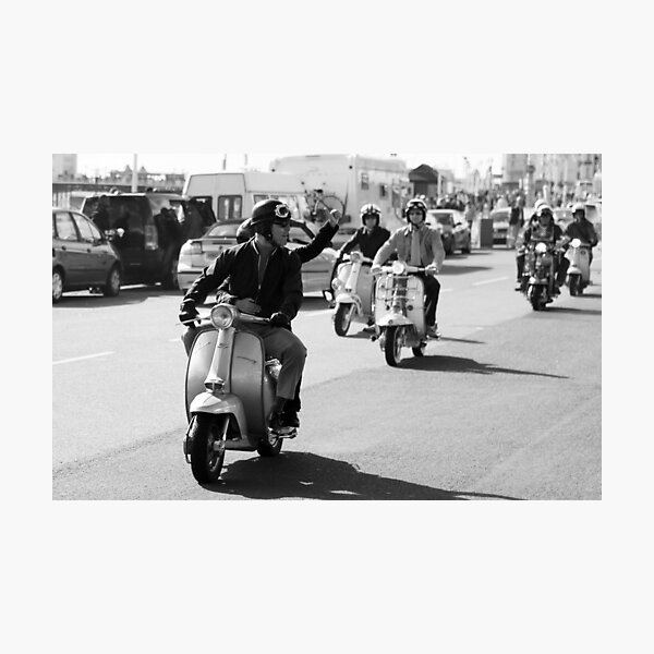 Mod drive by in Brighton. Photographic Print