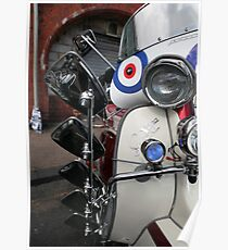 Lambretta SX200 parked and proud. Poster