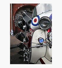 Lambretta SX200 parked and proud. Photographic Print