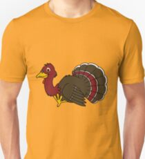 Thanksgiving Turkey with Red Feathers Unisex T-Shirt