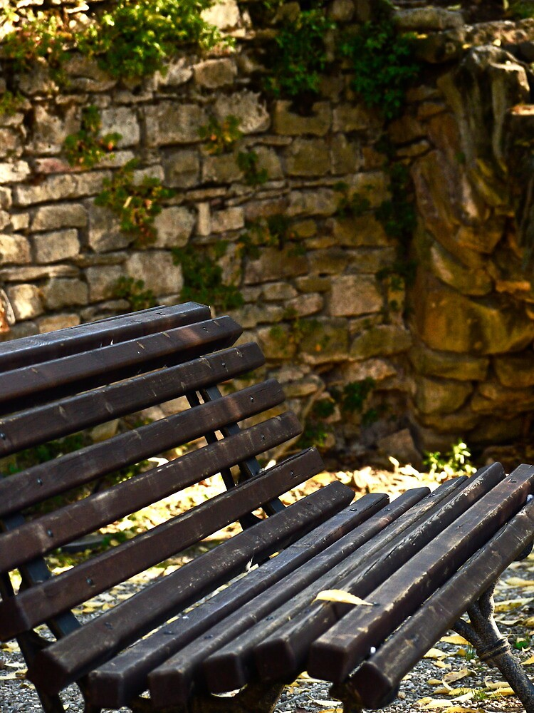 Stone Walled Bench by Rae Tucker