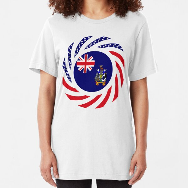 South Georgia Islander American Multinational Patriot Flag Series Slim Fit T-Shirt
