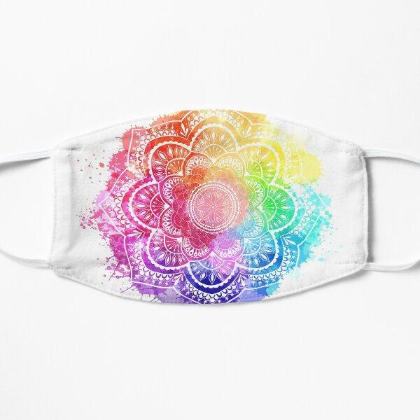 Watercolor Splash Mandala white background Flat Mask
