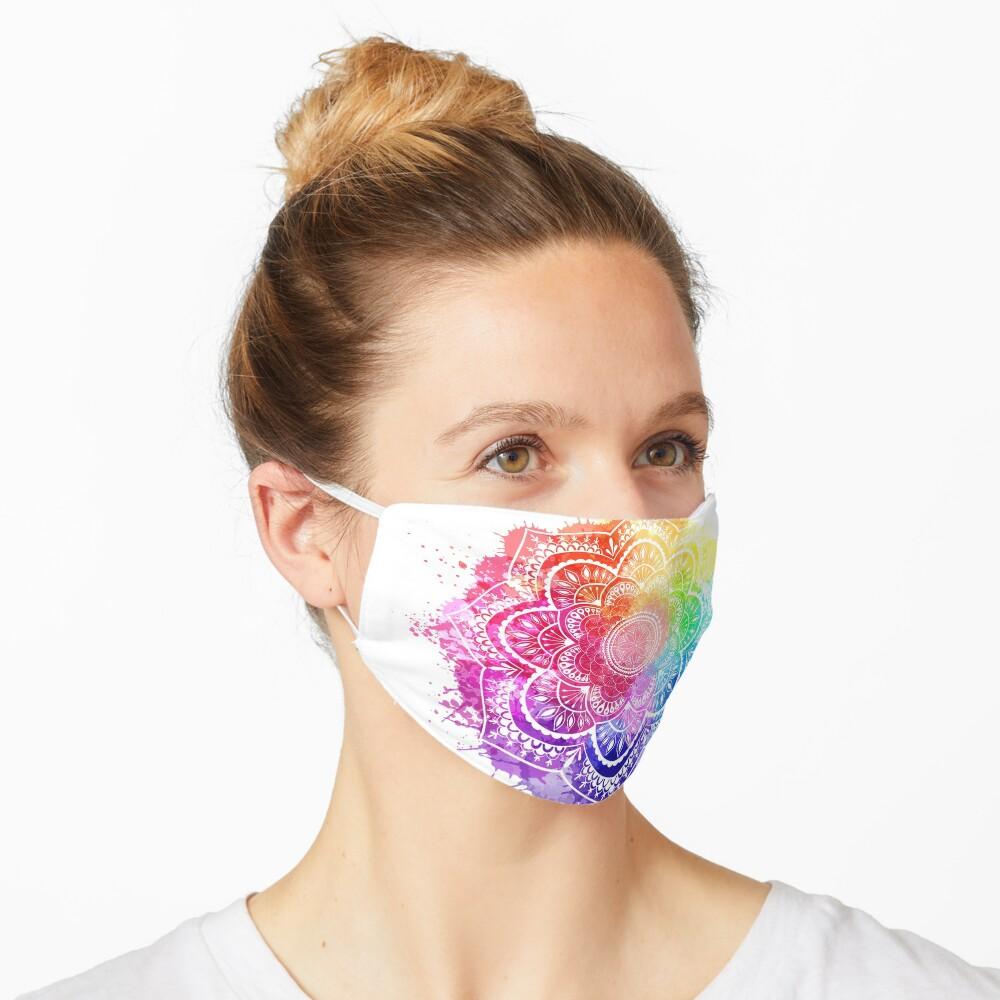 Watercolor Splash Mandala white background Mask