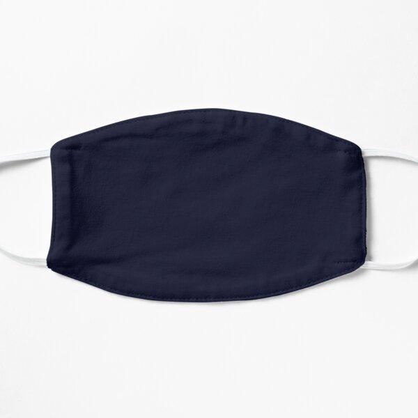 Plain Simple Dark Navy Blue Solid Block Color Mask