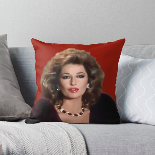 Sable from Dynasty  Throw Pillow
