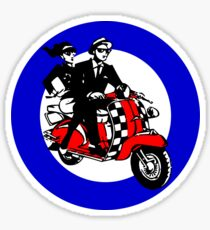 Ska Scooter Couple Target Sticker